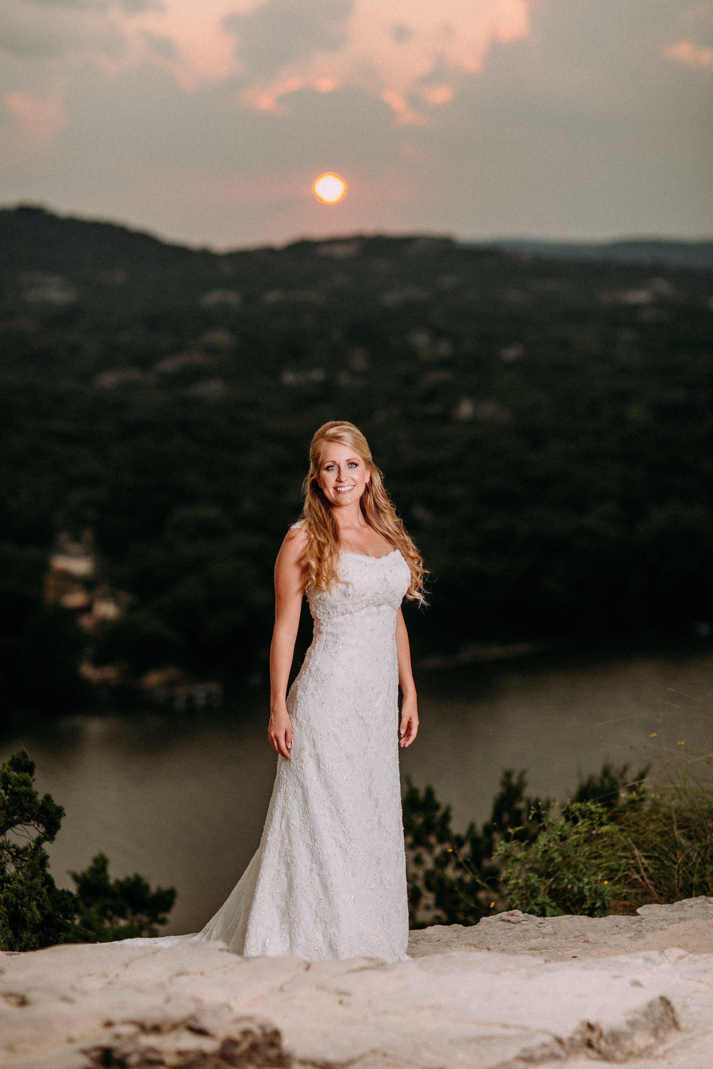 Mount Bonnell Austin, Texas Wedding dresses, Sheath