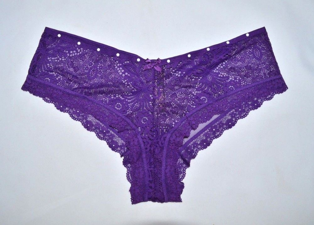 34c6bf3b0dbe VICTORIA'S SECRET Purple Lace Cheeky Panties X-Large XL NEW Embellished  Panty #VictoriasSecret #Bikinis