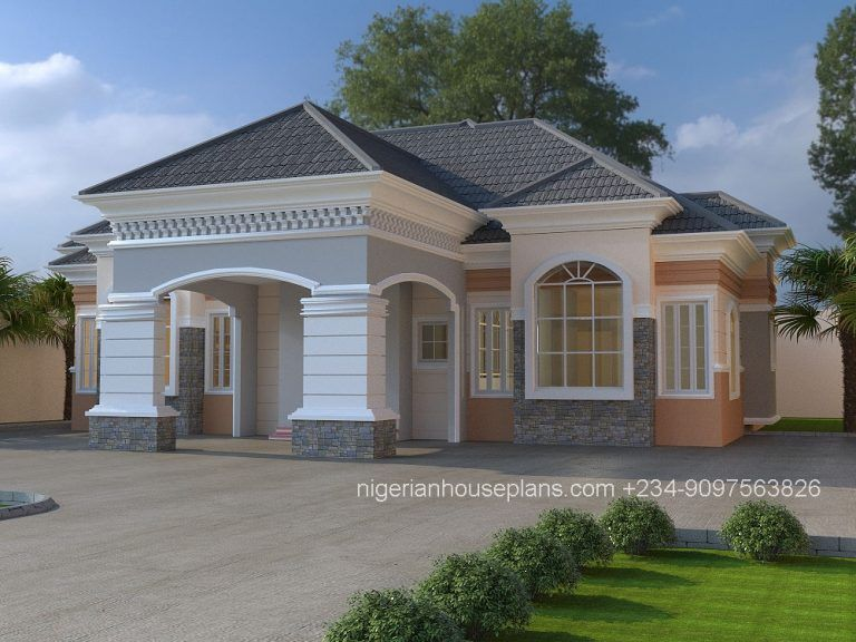 3 Bedroom Bungalow Ref 3025 Nigerianhouseplans Bungalow