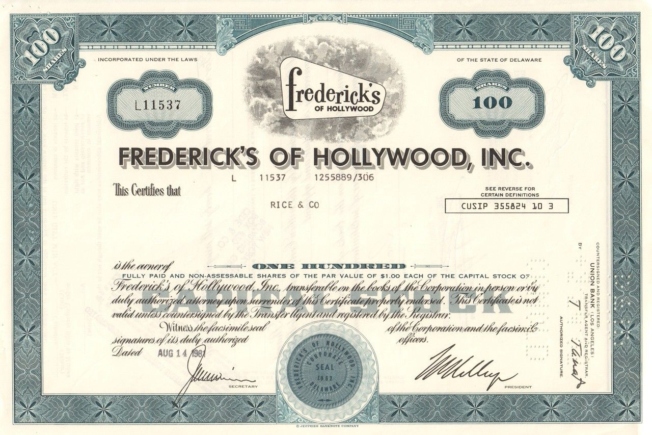 Studebaker Corporation Stock Certificate  Old Stock Certificates