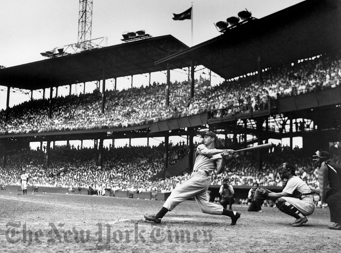BASEBALL ART PRINT Joe Dimaggio Sliding Into Third Corbis Bettmann