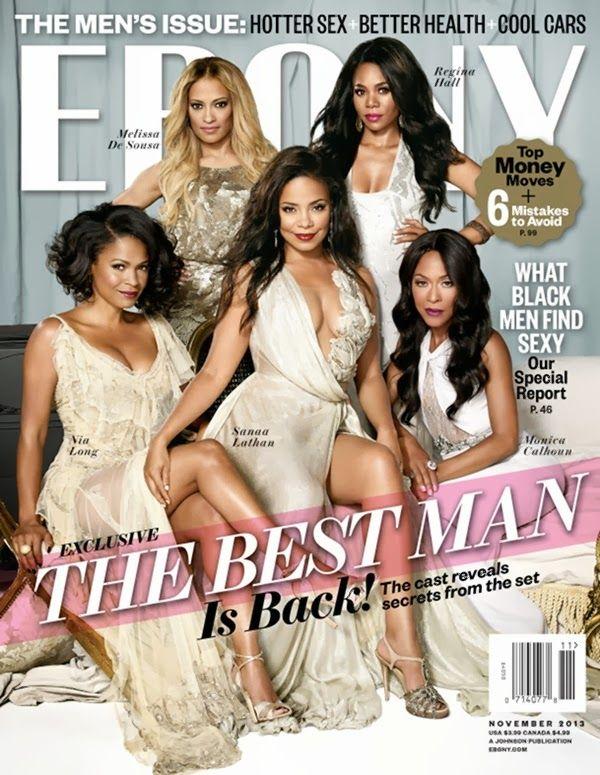 The Best Man Holiday Cast Ladies Ebony Magazine November 2013 Melissa De Sousa As Shelby Taylor Julian S Ebony Magazine Ebony Magazine Cover Black Actresses