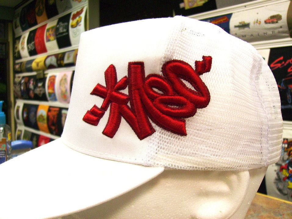 An  embroidery oldie but goodie- this  3D foam  cap was my answer recently  to can you  embroider 3D over a mesh  truckerhat back  This  graffiti  styled hat ... 340e37c58144