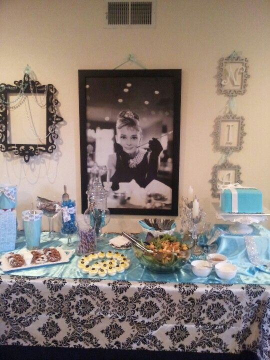 breakfast at tiffanys baby shower decoracion fiesta Pinterest - adornos para fiesta de nia