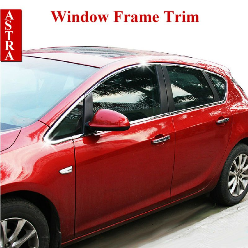 Vauxhall Opel Astra J Stainless Steel Window Frame Trim Sill Cover ...
