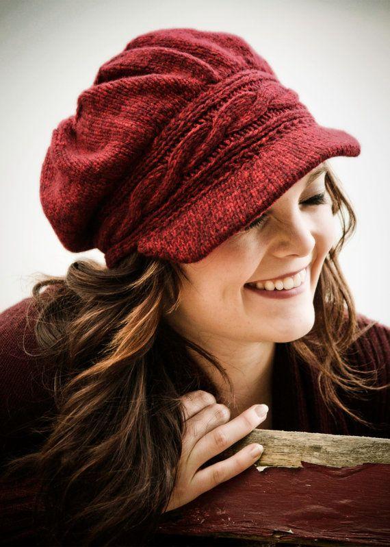Knit Newsboy Hat Pattern Free Knitting Pattern