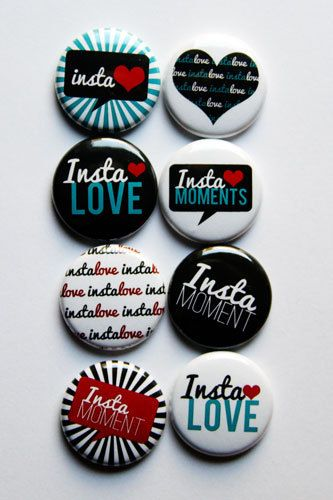 Insta Love 2 by aflairforbuttons on Etsy, $6.00  #flair #flairbuttons