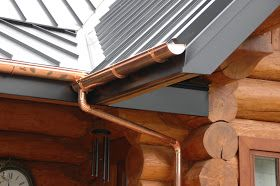 Cool Matte Black Sterling Roof And Copper Gutters True Gems Copper Gutters Metal Roof Standing Seam Metal Roof