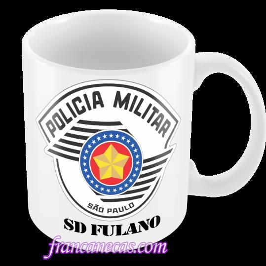 Caneca Personalizada Policial Militar SP  e3c3faf9c6d
