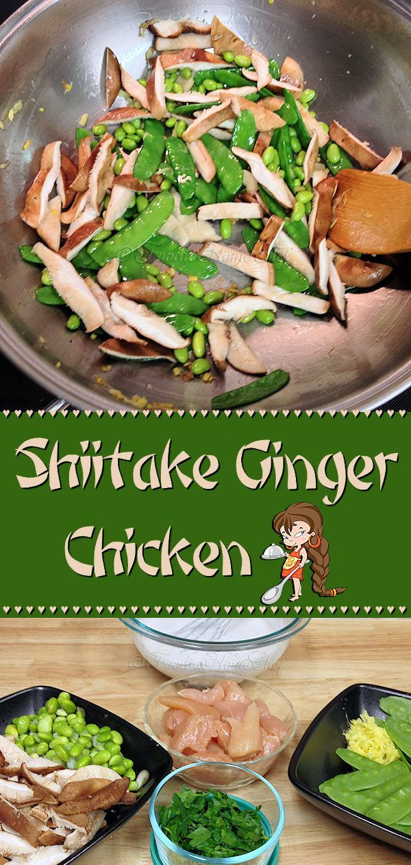 Shiitake Ginger Chicken is one of my Signature Recipes... so easy to prepare, can be prepped in advance & cooks up in no time. A terrific meal for those busy weekdays. Your whole family will love this earthy, creamy, delicious stir-fry! ---------