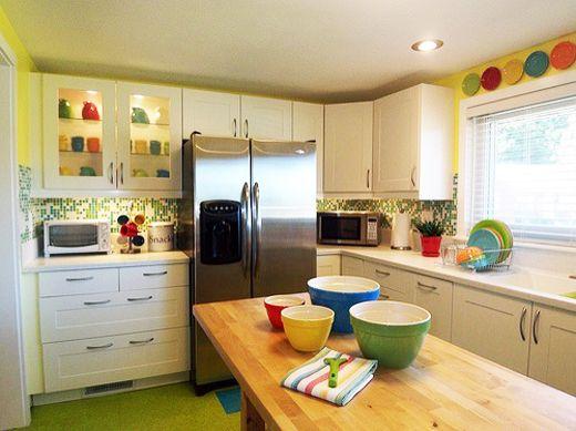 Delightful Dream Colorful Kitchen With Fiestaware