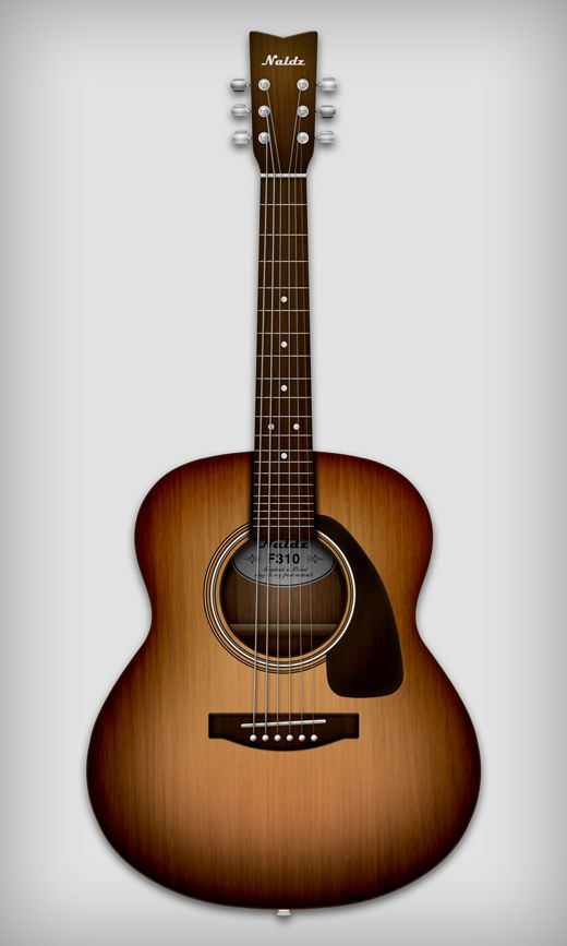 Create A Detailed Illustration Of An Acoustic Guitar In Photoshop Naldz Graphics Photoshop Guitar Guitar Illustration