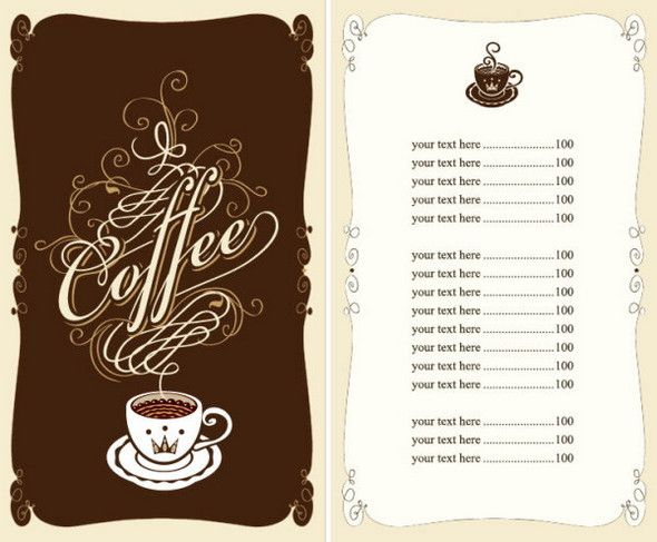 cafe menu Inspiration Pinterest Cafe menu - Cafe Menu Template