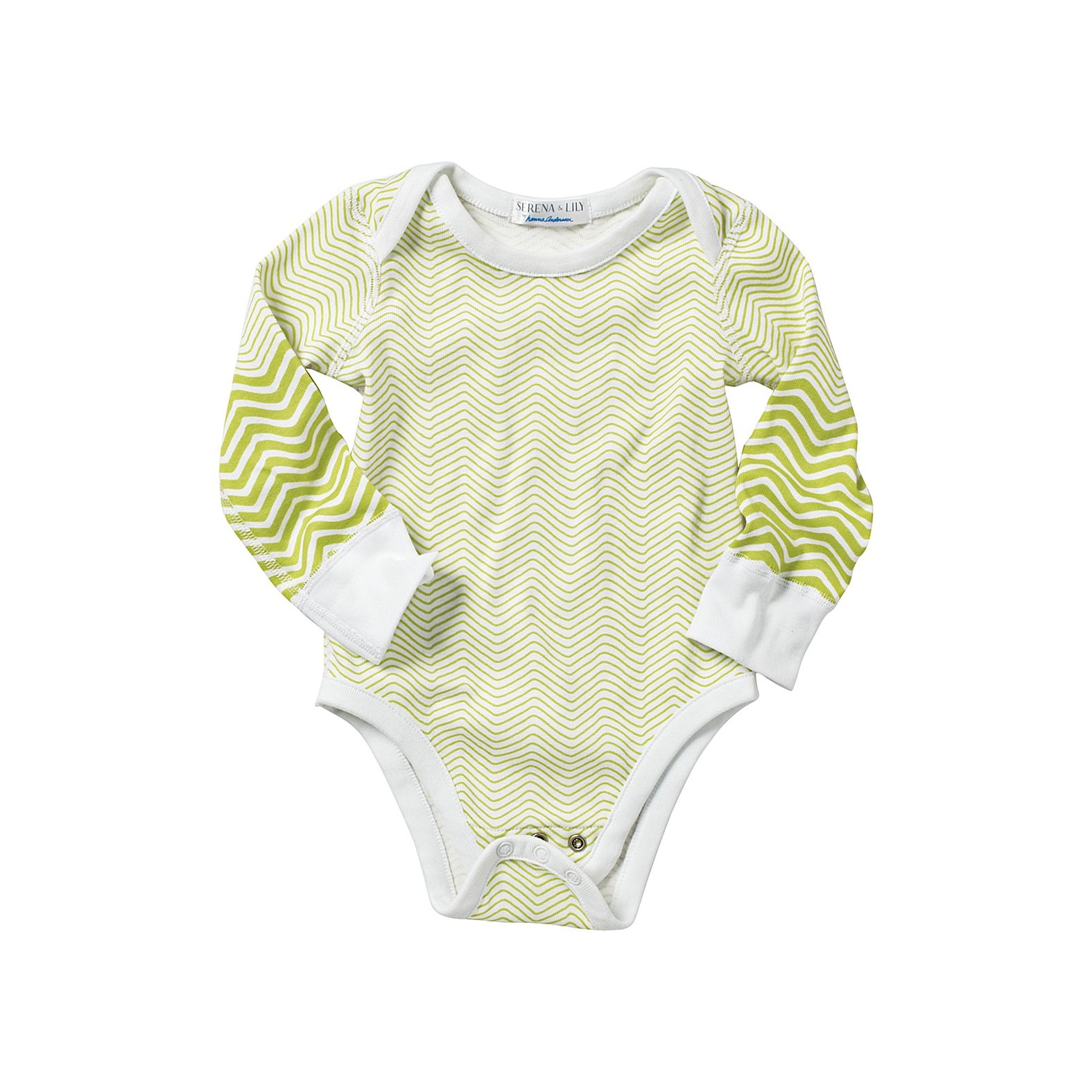 Hanna Andersson Chevron Bodysuit Sprout - Serena & Lily