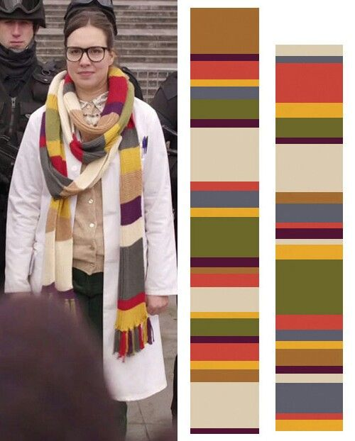Osgood scarf pattern | Dr Who (general and party ideas) | Pinterest