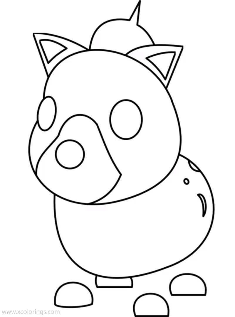 Roblox Adopt Me Coloring Pages Hyena Pets Drawing Coloring Pages Kawaii Drawings