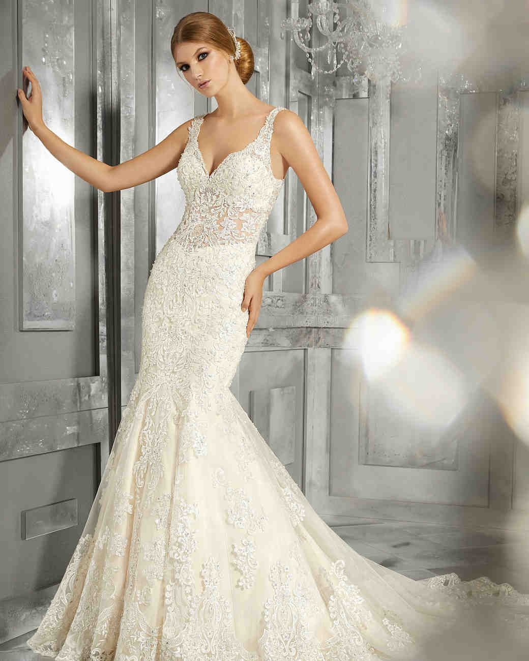 Morilee wedding dress spring vneck embellished trumpet