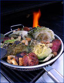 Fire Charred Iceberg Salad #grilled #salads