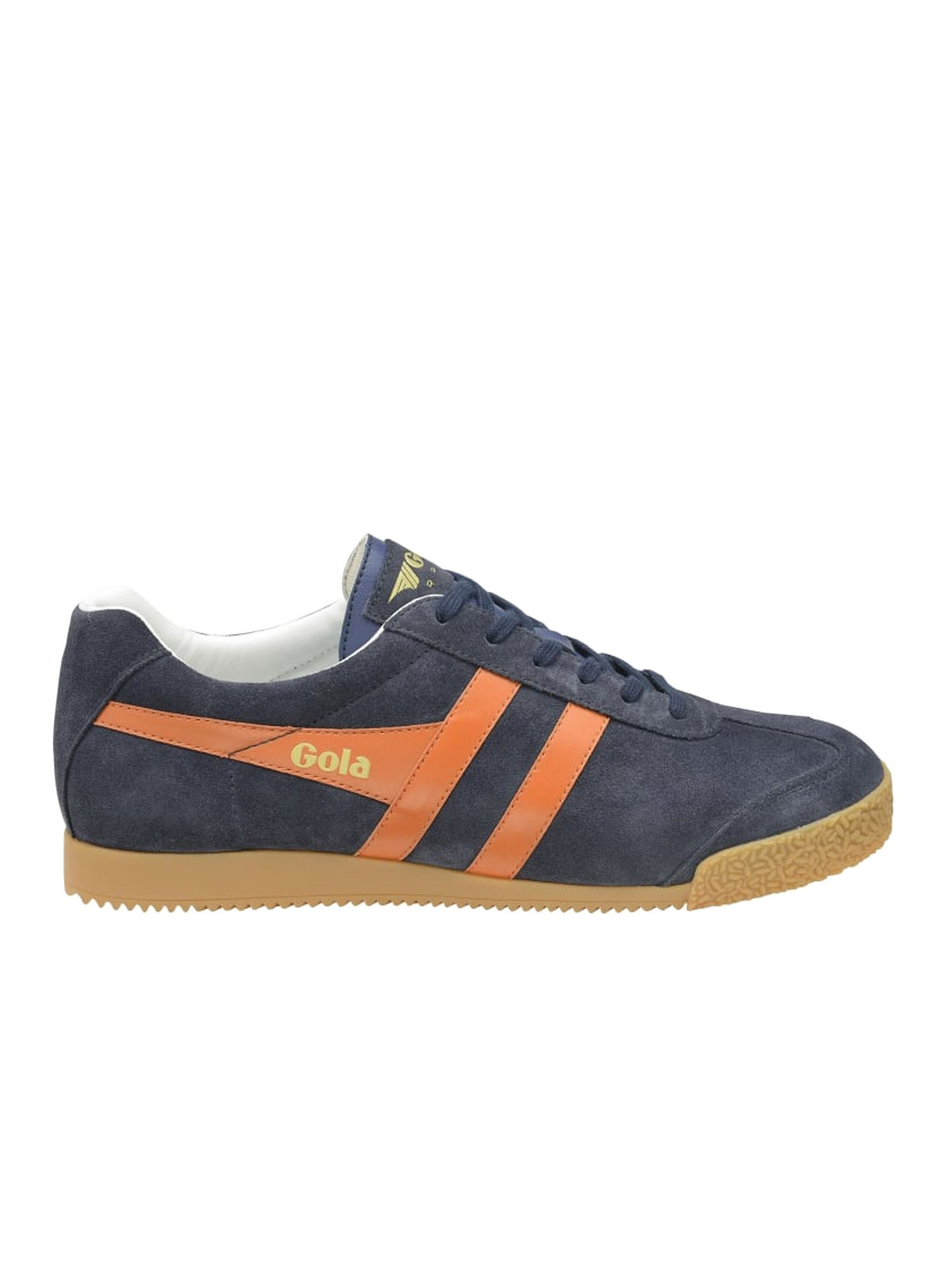 GOLA Harrier Suede Trainers in NAVY ORANGE OFFWHITE