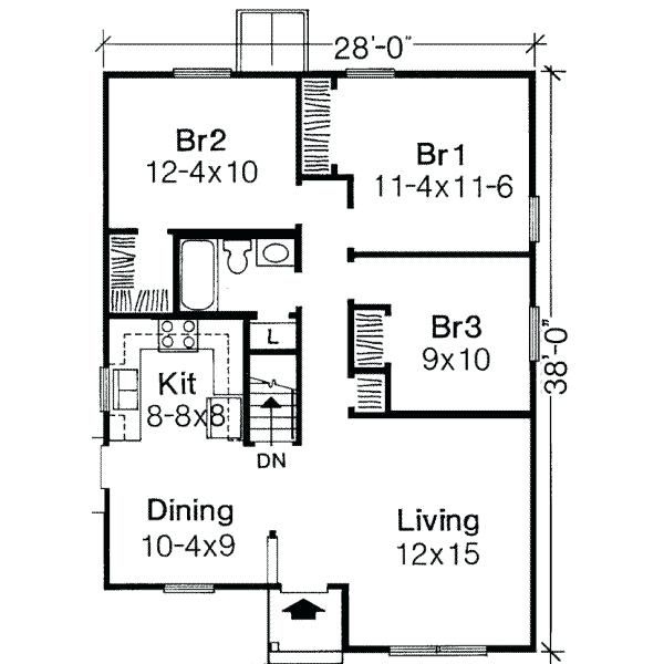 One Bedroom Apartment Floor Plans 1000 Sq Ft One Story 3 ...