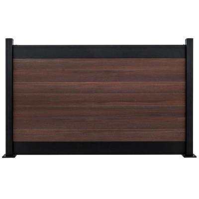 Veranda Euro Style 4 Ft X 6 Ft Black Top Black Rose Aluminum Composite Horizontal Fence Panel Ef 02102 In 2020 Fence Sections Horizontal Fence Fence Design