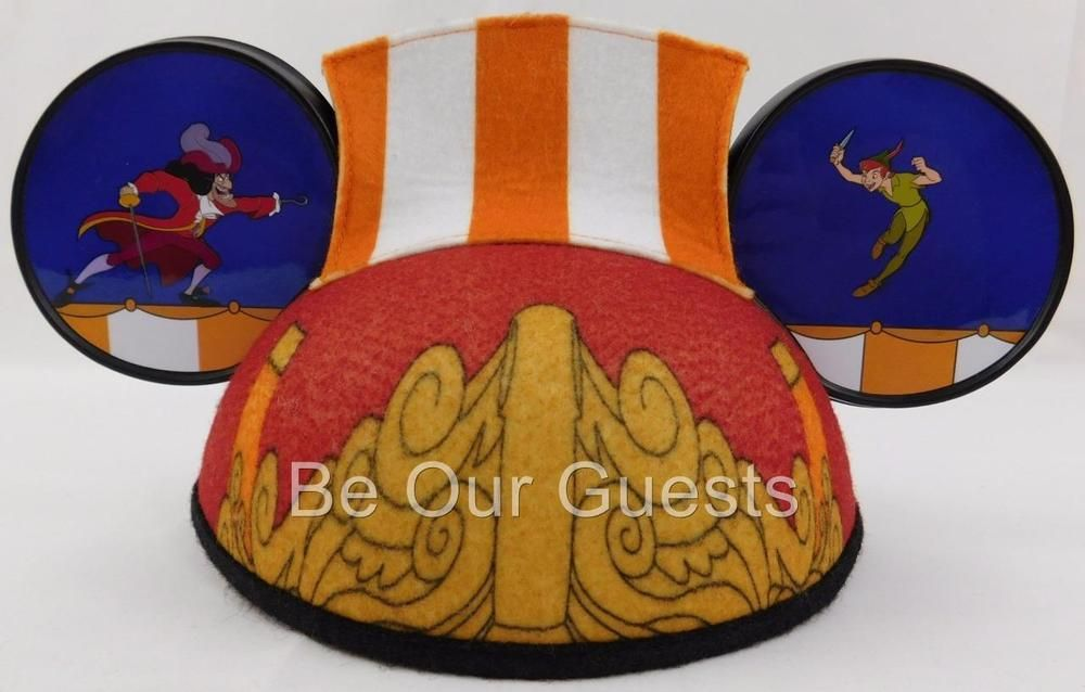 e6469ddccb77a Disney Parks Peter Pan Captain Hook Pirate Ship Mickey Mouse Ears Hat Adult  New