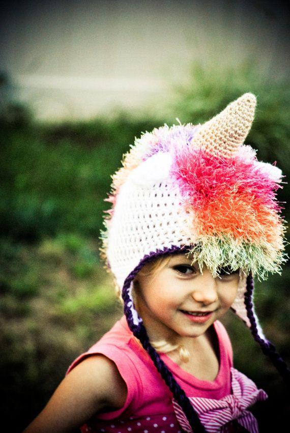 Unicorn crochet hat Free shipping by MayasWonderland on ...