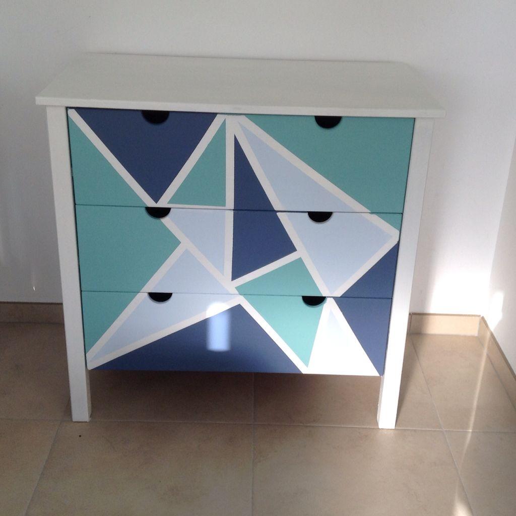 Commode Ikea En Pin Customisee Pour La Chambre De Mon Petit Garcon