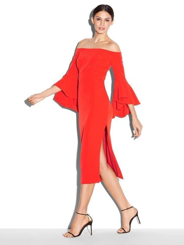 d429a6652 Vestido Vermelho Decote Ombro a Ombro - Ref.1026 - comprar online