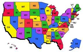 Map Of America 52 States.Abbreviations Of 52 States In America States In America