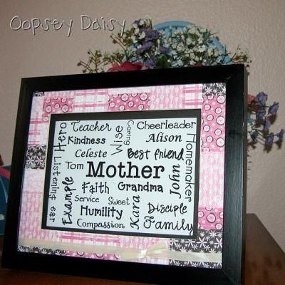 Mother's Day Word Collage {Printable}