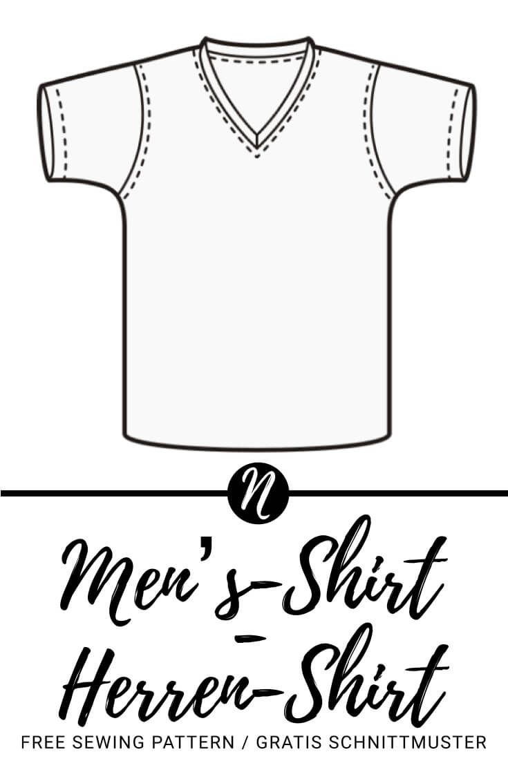 Herren-T-Shirt mit V-Ausschnitt | Ausdrucken, Ausschnitt und Kostenlos