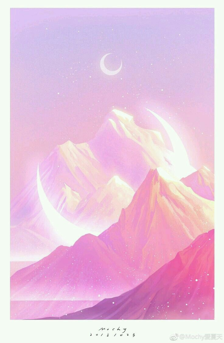 Wallpaper Pemandangan Warna Pink – WallpaperShit