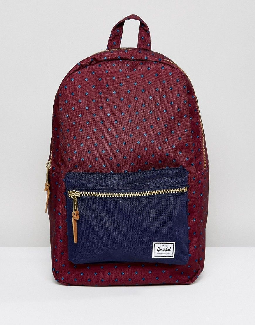 d2a1c0e6d54 HERSCHEL SUPPLY CO SETTLEMENT BACKPACK IN WINDSOR WINE - RED.   herschelsupplyco  bags  lining  canvas  backpacks  polyester