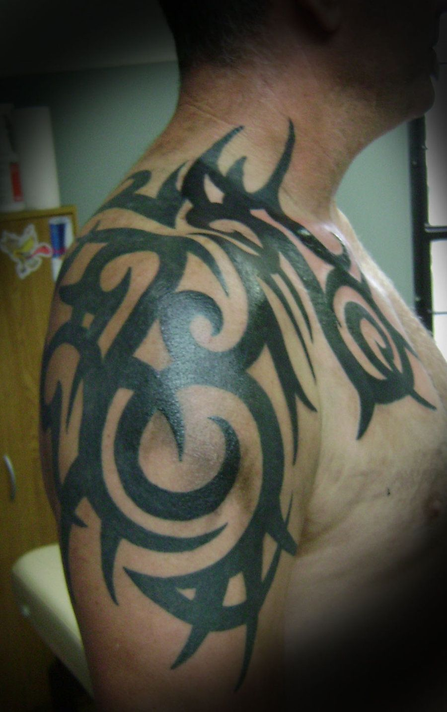 Half sleeve tattoos tribal drawings half sleeve tribal for Tribal half sleeve tattoos