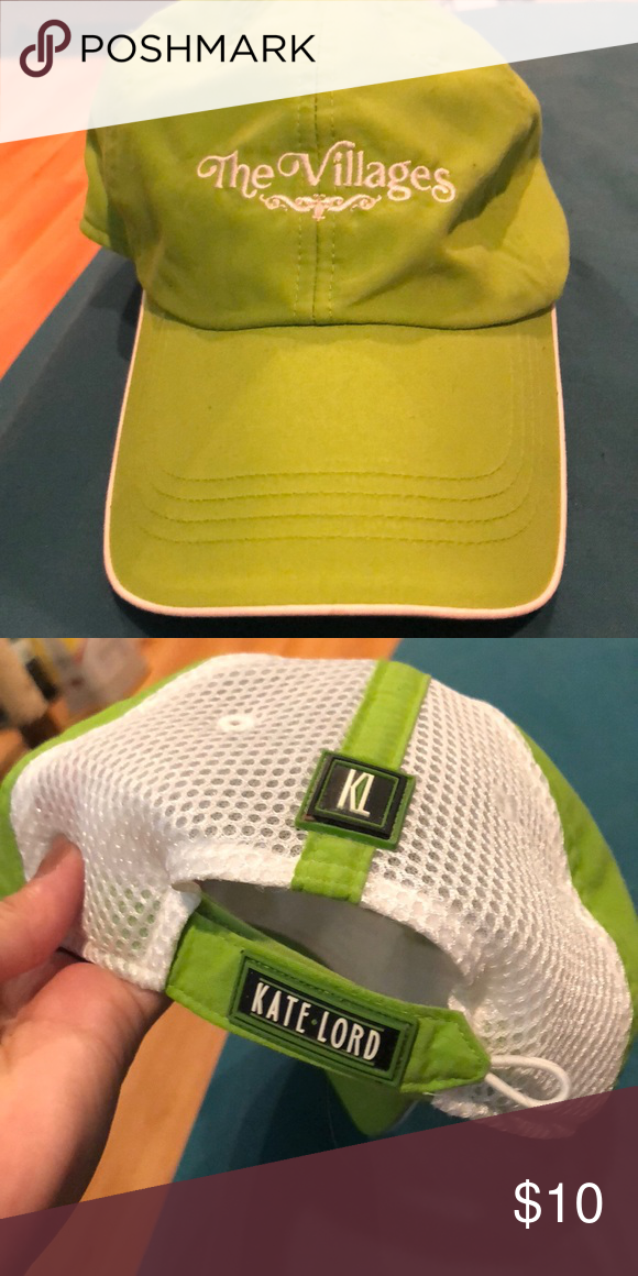 Kate Lord golf cap Like green Kate Lord golf hat. Green part is soft and  has a little bit of mesh in the back with adjustable Velcro Kate Lord  Accessories ... 13204b27d10