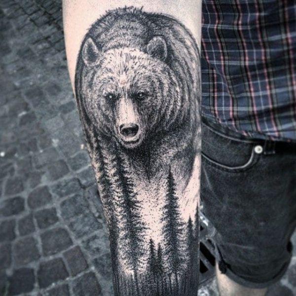 Bear Face Tattoo Stencil Page 1 Line 17qq Com