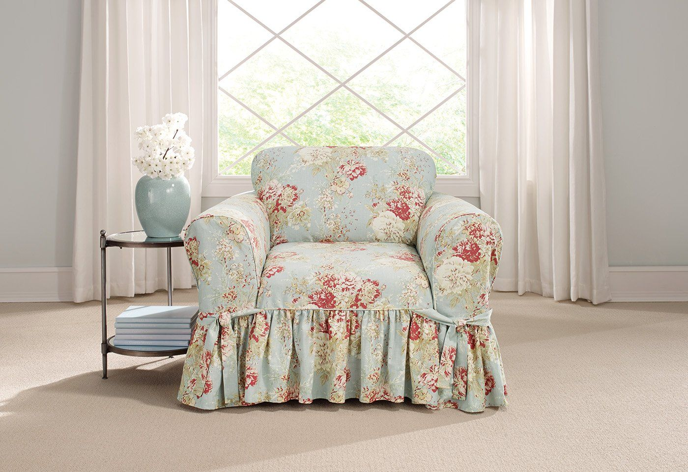 Enjoyable Ballad Bouquet By Waverly One Piece Chair Slipcover In 2019 Alphanode Cool Chair Designs And Ideas Alphanodeonline
