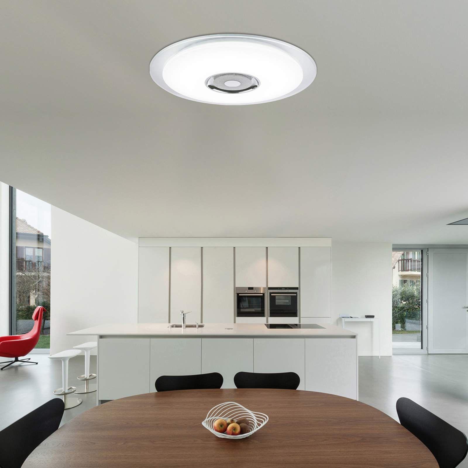 Moderne Smart Home Deckenleuchten Tune Von Globo Silber Led Deckenleuchte Beleuchtung Decke Und Led