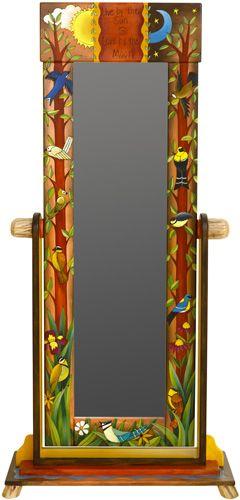 Square Top Wardrobe Mirror
