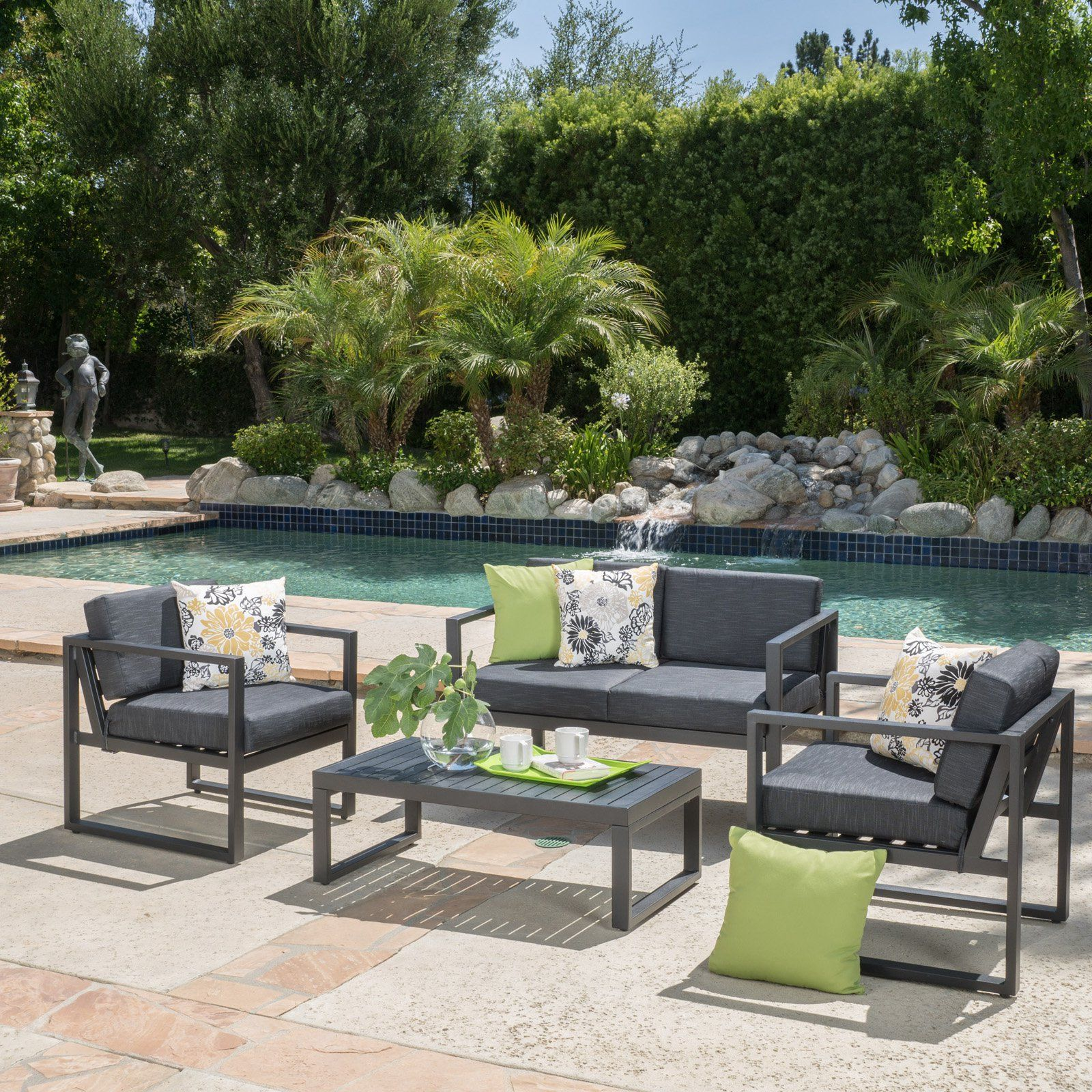 Best selling home marfil 4 piece patio chat set from hayneedle com