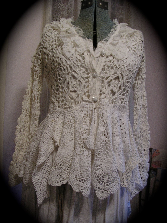 lace sweater coat | fabric | Pinterest | Elegante, Blusas y Tejido