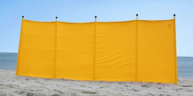 Plain block colour windbreaks! #SummerEssentials #beach #yellow. Get yours from our sister company www.southwesterlywindbreaks.co.uk
