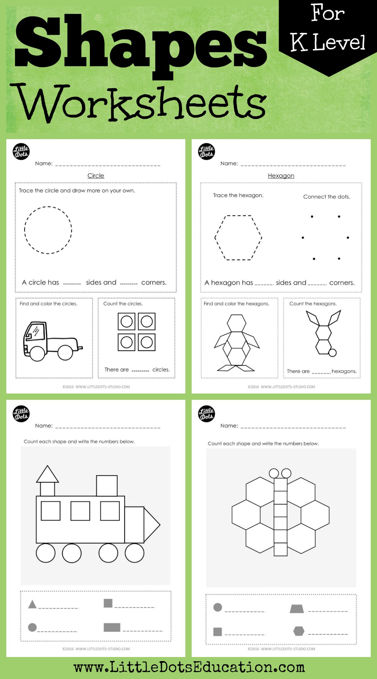 Kindergarten Math Shapes Worksheets And Activities