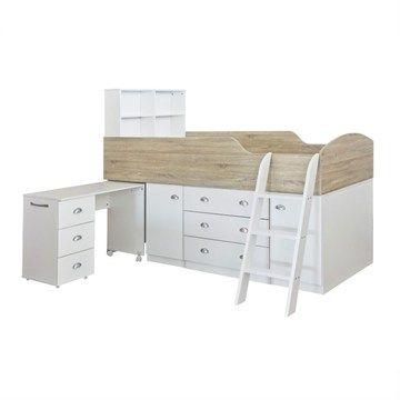 Sailor King Single Midi Sleeper Beech White Sailorsloft Beds