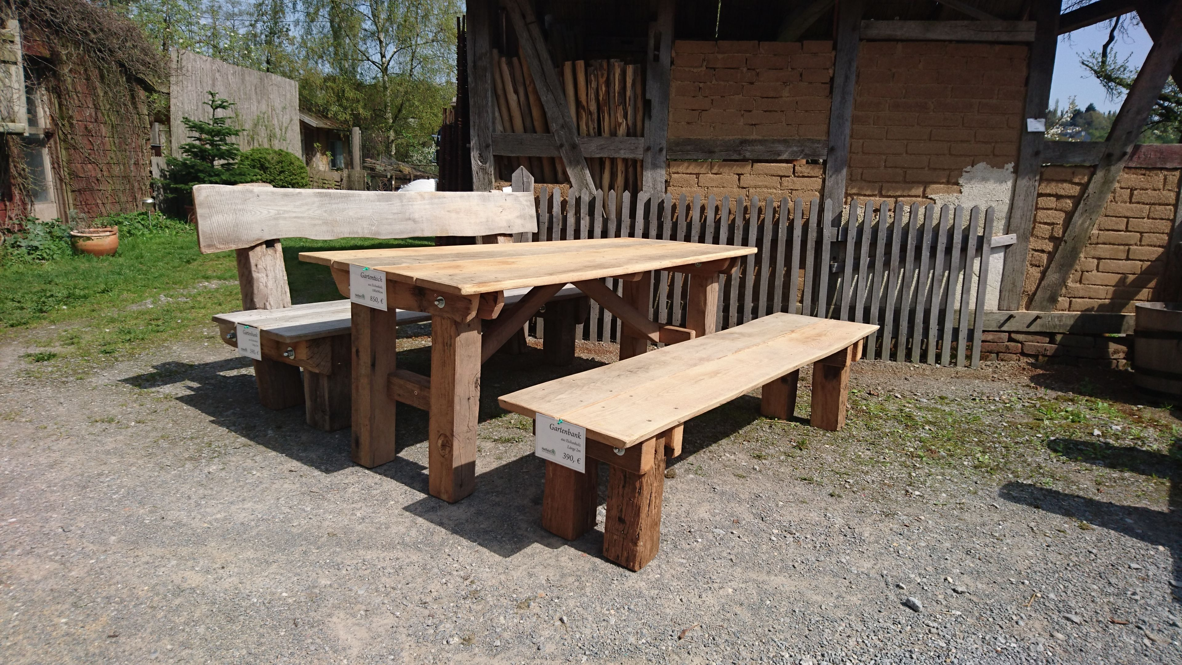 Gartentisch Rustikal Gartentische Holz Teak