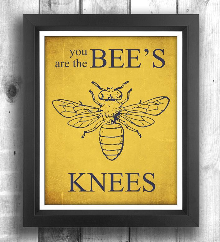 Bee Art Typographic poster Quote art, inspirational print, wall ...