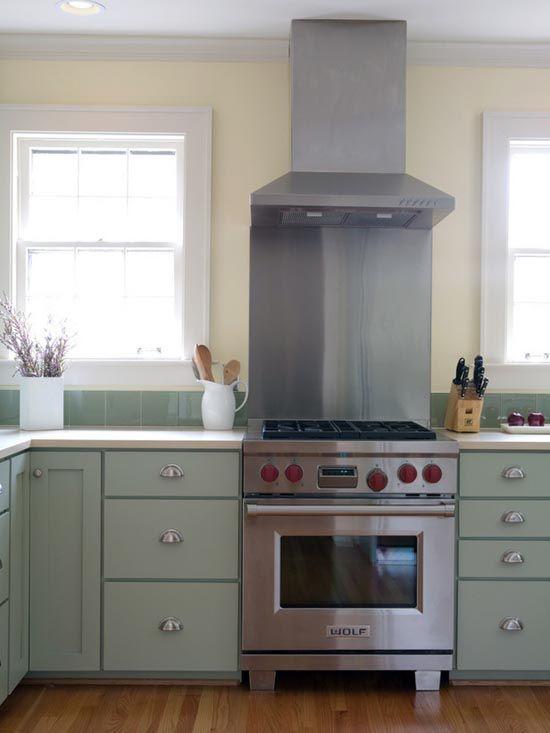 light and pretty kitchen