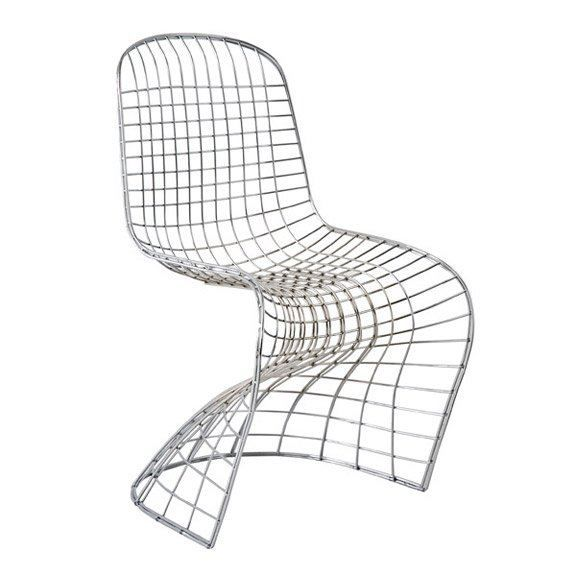 Chaise Design Fantome Spider Grillage Chrome Achat Vente Chaise Chaise Design Fantome Spider G Cdiscount Chaise Design Chaise Metal Et Chaise