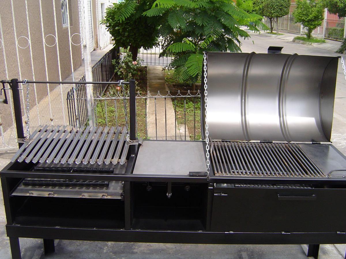 Asadores de carne argentino ahumador pollero y horno for Asadores para carne jardin